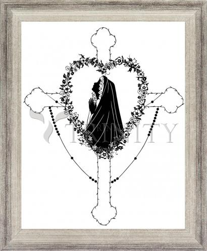 Wall Frame Silver Flat - Our Lady of the Rosary by D. Paulos
