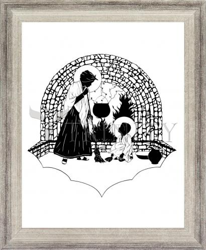 Wall Frame Silver Flat - Our Lady, Servant by D. Paulos
