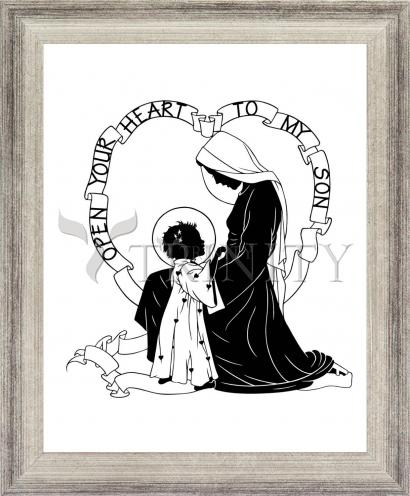 Wall Frame Silver Flat - Open Your Heart To My Son - ver.1 by D. Paulos