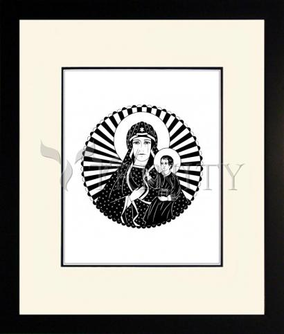 Wall Frame Double Mat Black - Mother of Poland by D. Paulos