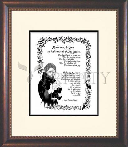 Wall Frame Double Mat Gold - Prayer of St. Francis by D. Paulos