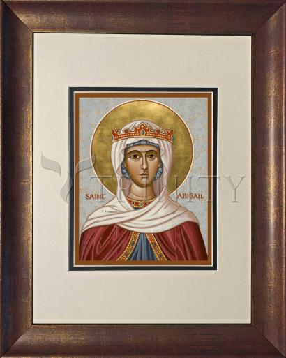 Wall Frame Double Mat Gold - St. Abigail by J. Cole