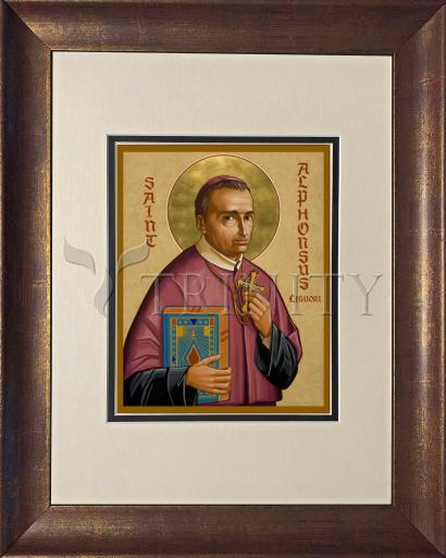 Wall Frame Double Mat Gold - St. Alphonsus Liguori by J. Cole