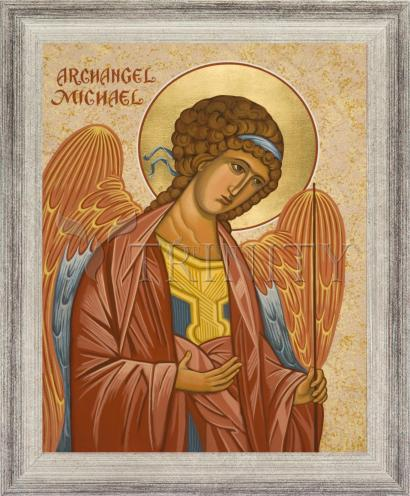 Wall Frame Silver Flat - St. Michael Archangel by J. Cole