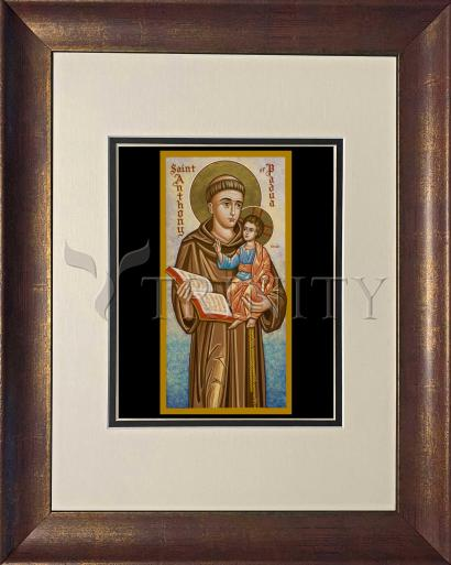 Wall Frame Double Mat Gold - St. Anthony of Padua by J. Cole