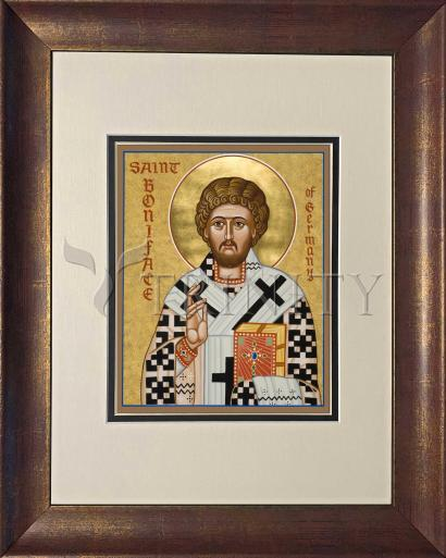 Wall Frame Double Mat Gold - St. Boniface of Germany by J. Cole