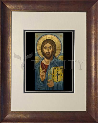 Wall Frame Double Mat Gold - Christ Blessing by J. Cole