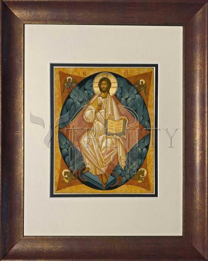 Wall Frame Double Mat Gold - Christ Enthroned by J. Cole