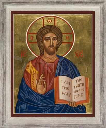 Wall Frame Silver Flat - Christ the Teacher by J. Cole