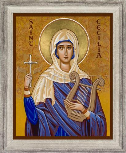 Wall Frame Silver Flat - St. Cecilia by J. Cole
