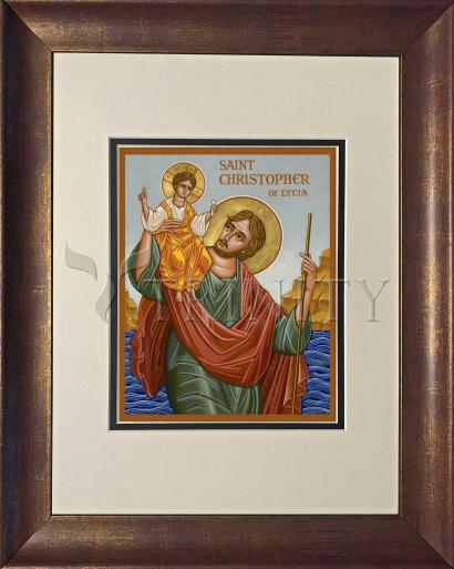 Wall Frame Double Mat Gold - St. Christopher by J. Cole