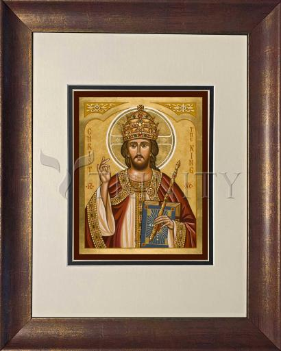 Wall Frame Double Mat Gold - Christ the King by J. Cole
