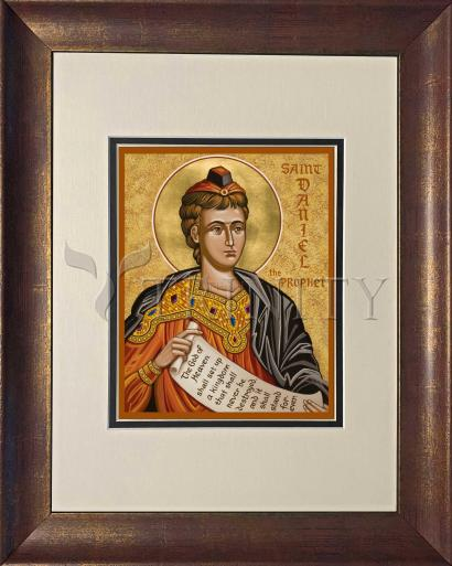 Wall Frame Double Mat Gold - St. Daniel the Prophet by J. Cole