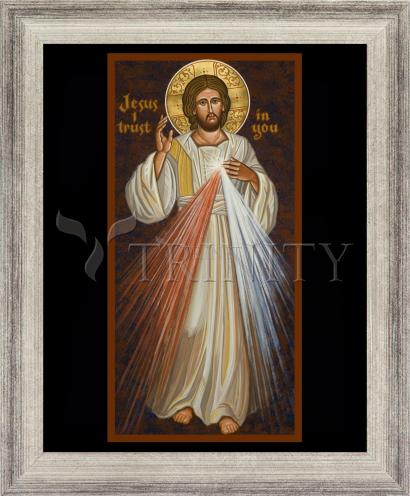 Wall Frame Silver Flat - Divine Mercy by J. Cole