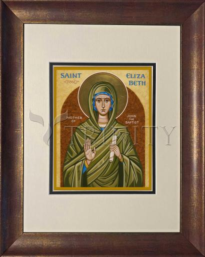 Wall Frame Double Mat Gold - St. Elizabeth, Mother of John the Baptizer by J. Cole