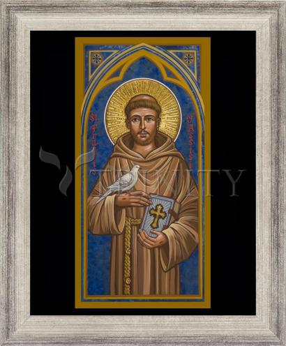Wall Frame Silver Flat - St. Francis of Assisi by J. Cole