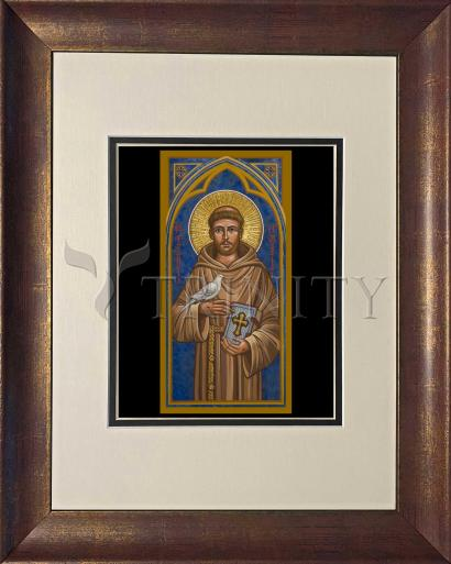 Wall Frame Double Mat Gold - St. Francis of Assisi by J. Cole
