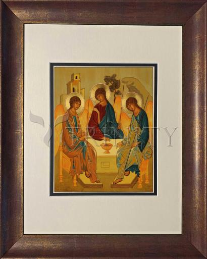 Wall Frame Double Mat Gold - Holy Trinity by J. Cole