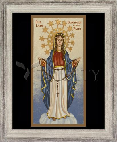 Wall Frame Silver Flat - Our Lady Guardian of the Faith by J. Cole