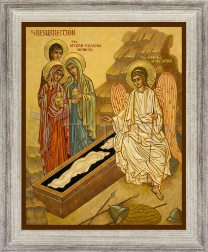 Wall Frame Silver Flat - Resurrection - Myrrh Bearing Women by J. Cole