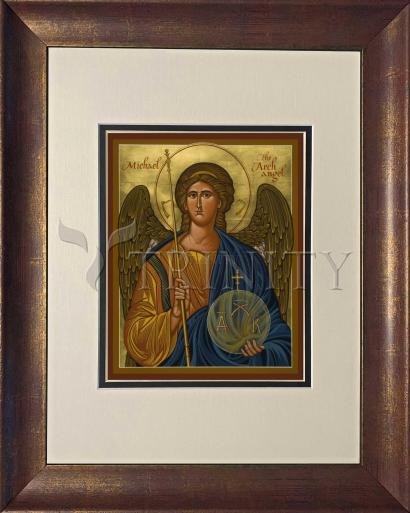 Wall Frame Double Mat Gold - St. Michael Archangel by J. Cole