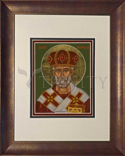 Wall Frame Double Mat Gold - St. Nicholas by J. Cole