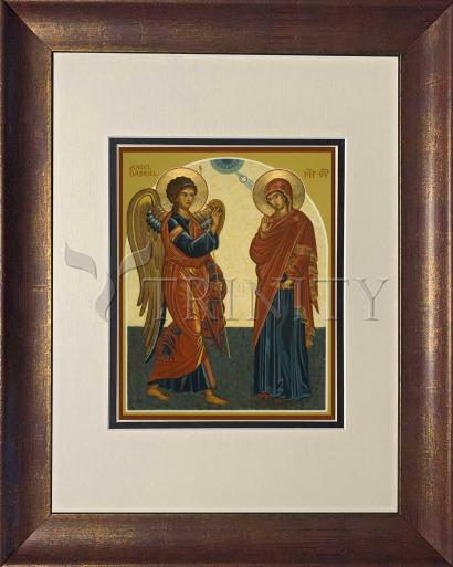 Wall Frame Double Mat Gold - Annunciation by J. Cole