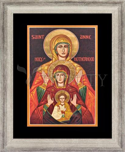 Wall Frame Silver Flat - St. Anne by J. Cole