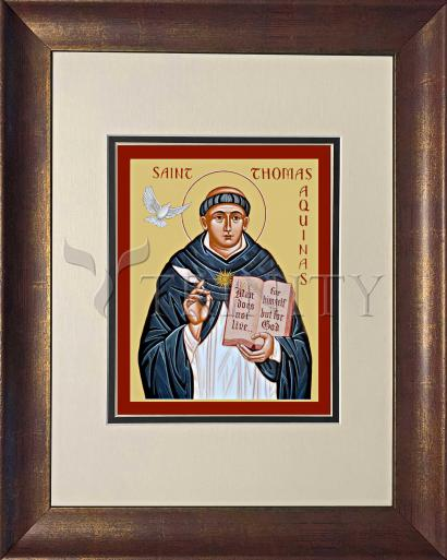 Wall Frame Double Mat Gold - St. Thomas Aquinas by J. Cole
