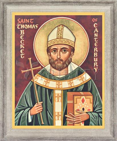 Wall Frame Silver Flat - St. Thomas Becket by J. Cole