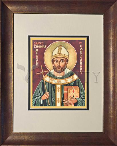 Wall Frame Double Mat Gold - St. Thomas Becket by J. Cole