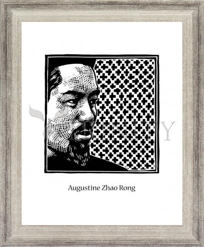 Wall Frame Silver Flat - St. Augustine Zhao Rong and 119 Companions by J. Lonneman