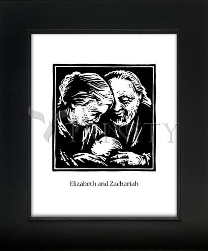 Wall Frame Gold Scoop - St. Elizabeth and Zachariah by J. Lonneman