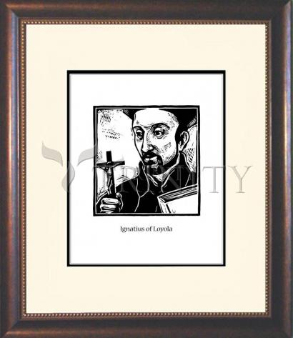 Wall Frame Double Mat Gold - St. Ignatius by J. Lonneman