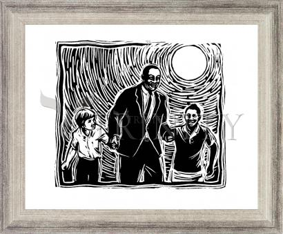 Wall Frame Silver Flat - Martin Luther King's Dream by J. Lonneman