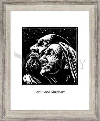 Wall Frame Silver Flat - Sarah and Abraham by J. Lonneman