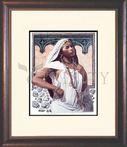 Wall Frame Double Mat Gold - Adulteress by L. Glanzman