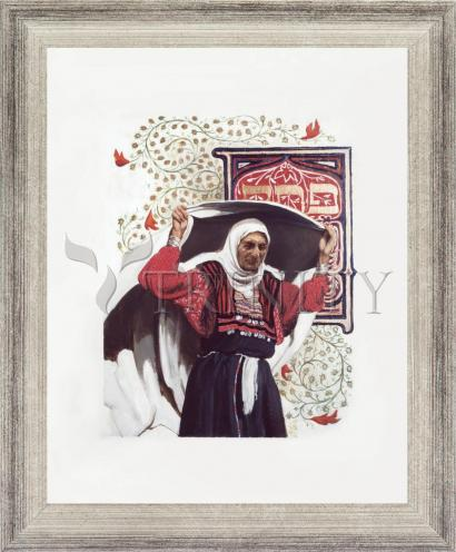 Wall Frame Silver Flat - St. Anna the Prophetess by L. Glanzman