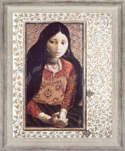 Wall Frame Silver Flat - The Daughter of Jairus by L. Glanzman