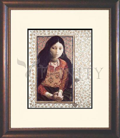 Wall Frame Double Mat Gold - The Daughter of Jairus by L. Glanzman
