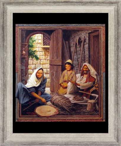 Wall Frame Silver Flat - Holy Family by L. Glanzman