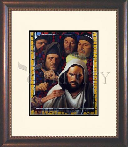 Wall Frame Double Mat Gold - Jesus' Foes by L. Glanzman