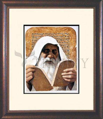 Wall Frame Double Mat Gold - Moses by L. Glanzman