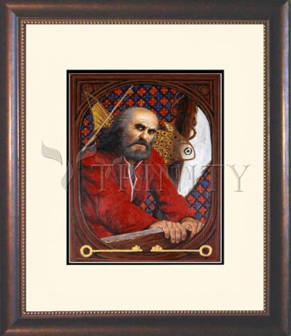 Wall Frame Double Mat Gold - St. Peter by L. Glanzman