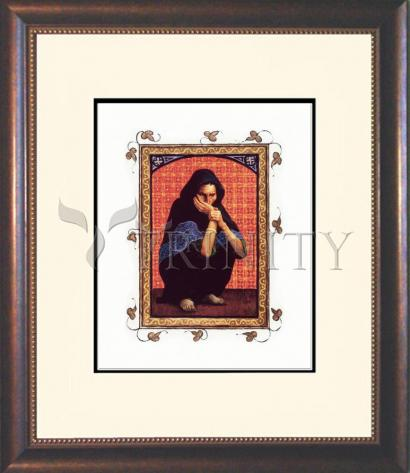 Wall Frame Double Mat Gold - Woman with a Hemorrhage by L. Glanzman