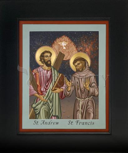 Wall Frame Gold Scoop - Sts. Andrew and Francis of Assisi by L. Williams