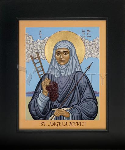 Wall Frame Gold Scoop - St. Angela Merici by L. Williams