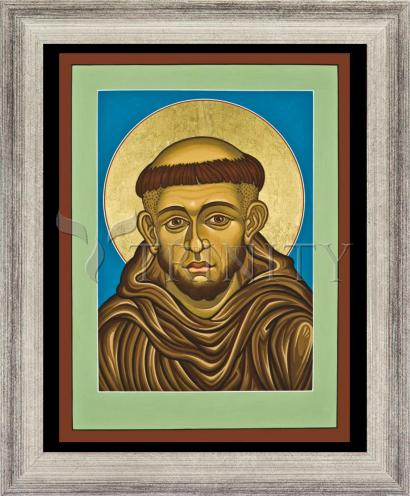 Wall Frame Silver Flat - St. Francis of Assisi by L. Williams