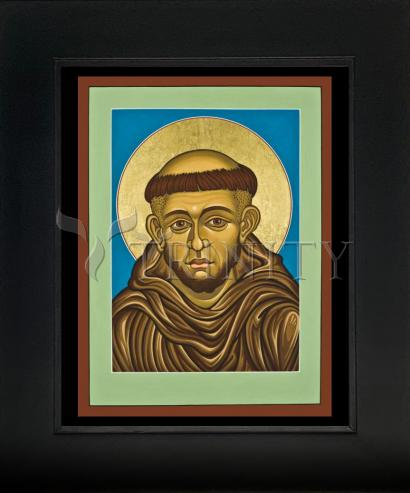 Wall Frame Gold Scoop - St. Francis of Assisi by L. Williams