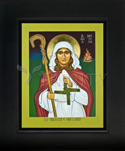 Wall Frame Gold Scoop - St. Brigid of Ireland by L. Williams